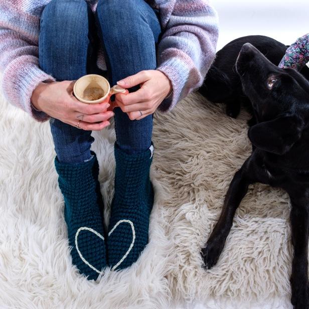 Love Heart Slipper Socks